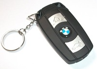 free shipping Novelty car Key Shape Windproof cigarette Lighter with Keychain gas lighter