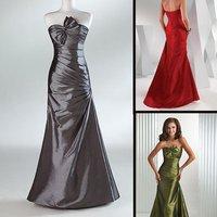 Fast Free Shipping ! Unique Neckline EV1025 Top Taffeta fashion Night Dress