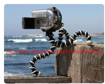 FREE SHIPPING! Travel Flexible Octopus Tripod (Grey Black) for cameras,camcorders,SLR,SLRs,DLSR