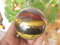 NATURAL Pretty Tiger Eye Quartz BALL Crystal Sphere Orb 2.36 inch  Healing Free Shipping