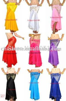 10pcs/lot Tribal Belly Dance Fishtail Skirt dress Womens Costume Accessories Sexy Yoga 12color u pick