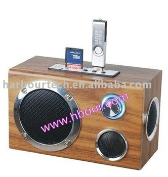 Wholesale portable mini speaker with usb/sd card slot,radio optional hot---Wholesale 20pcs/lot