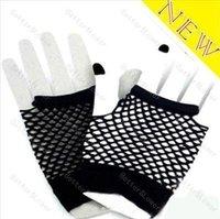 Fashion Neon Short Fishnet Gloves Fish Net Black Fancy Dress Party Dance Club 20pcs=10pairs Free Shipping
