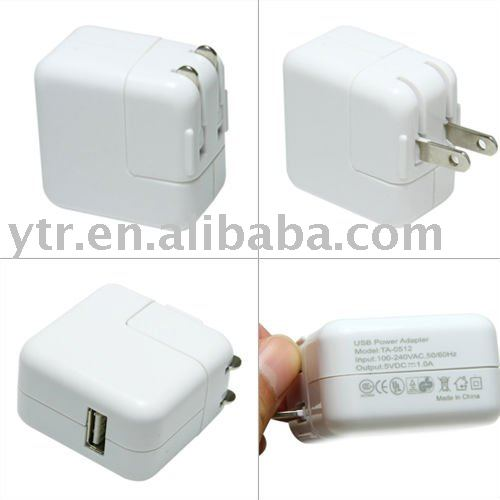 Free shippng Charger for iPhone for ipod USA plug 50pcs/lot(China (Mainland))