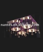silk fashion crystal ceiling lamp