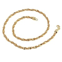 popular copper gold necklace(4.0mm)