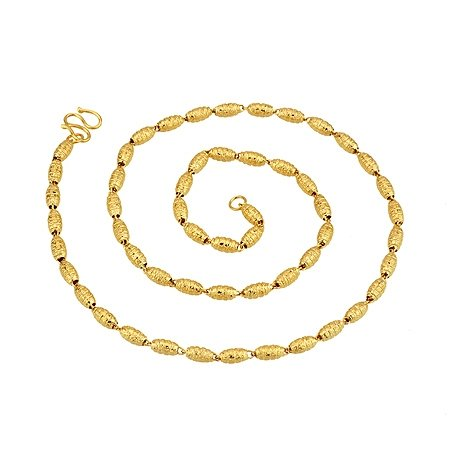 stylish copper oval ball gold necklace jewelry(3.0mm)(China (Mainland))