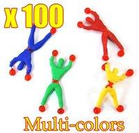 100pcs/lot Wholesale Climb walls spider men ,superman, children's toys OPP Bag Free Shipping