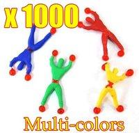 1000pcs/lot Wholesale Climb walls spider men ,superman, children's toys OPP Bag EMS  Free Shipping