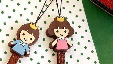 Free-Shipping-New-Cute-prince-princess-cartoon-mobile-chain-Strap ...