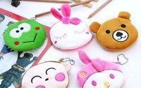 Free Shipping/small cute cartoon animals & girl Portable Wallet/Cosmetic Bag/key holder/coin bag/Pocket/Japan Style/Wholesale