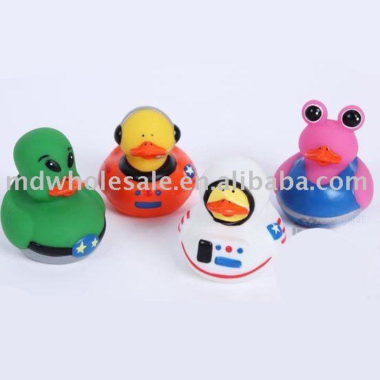 Free shipping Wholesale Space Rubber duck PVC duck Bath Toys Gifts 4pcs/Set 30sets/lot Hot sale Funny,safe Fast delivery(China (Mainland))