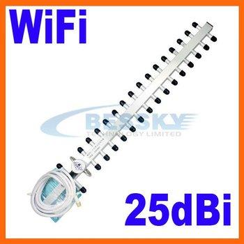 25 dBi 2.4 GHz 802.11b/g Wifi Yagi Antenna RP-SMA WLAN 3G 4G