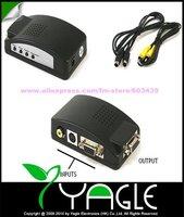 CVBS Composite & S-Video to VGA Converter, AV to VGA Converter Box, Free Shipping