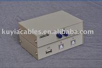 Free Shipping+Tracking number!! USB 2.0 Sharing Switch Hub 2 PC to 1 Scanner Printer+w/retail box