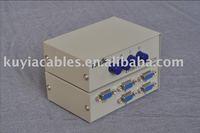 Free Shipping+Tracking number!! 10PCS/LOT !!! 4 Port 4 Way VGA Switch Box/VGA Monitor Sharing Switch Box Adapter+w/retail box