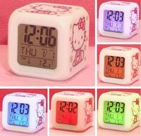 20pcs/lot wholesale Glowing Led Color Change Digital Alarm Clock  7402