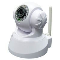 free shipping via DHL UPDATE VERSION Wireless IP WiFi Internet Pan Tilt PTZ Dual Audio Camera Cam ,IP Cameras
