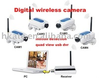 free shipping Digital Signal Wireless Camera DVR Home Security System AT202U+213S