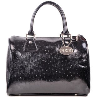 Free Shipping! ! SUSU2011 new black leather handbag ostrich leather handbags bag barrel pattern