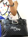 Hello Kitty black leather-like tote bag purse with silver bow tote bag handbag HG2