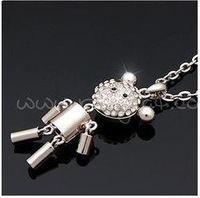 2011 fashion jewelry alloy  robot  necklace pendant