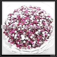 4500pcs/lot  Plum Round Epoxy Resin Rhinestone Bead For Apparel and Mobile Decoration 3mm 24038