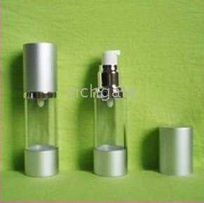 plastic makeup containers empty cosmetic airless pump serum lotion bottles 50ml transparent/s