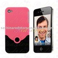 Free Shipping 50pcs V Style Hard Back Case for iphone 4G, mobile phone case