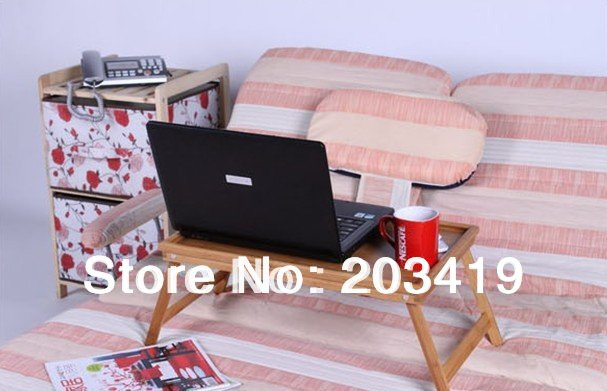 wholesale FOLDING CONVERTIBLE LAP LAPTOP notebook reading TABLE TRAY For TV COUCH BED stand for bed-Fan portable(China (Mainland))