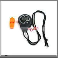 Free Shipping From USA+10Pcs/lot Digital Handheld Sport Stopwatch Stop Watch Alarm Clock-J3096