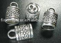 FREE SHIPPING 90pcs Tibetan silver spiral heart cord end A1382
