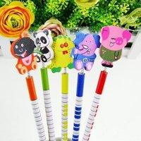 Cute Cartoon Animal Pencil/School Supplies / Wooden Stationery 100pcs/lot & Free Shipping