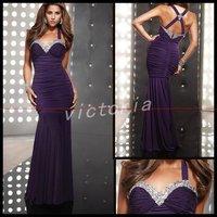Gorgeous EV1054 Floor-lenght Straps chiffon beaded Party Dress