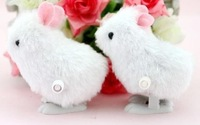 free shipping New Arrival hot sale 12pcs/lot on the chain winding chain plush rabbit gift for children baby toy set model educat