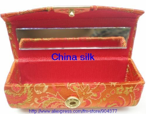 Unique Lipstick Packaging Lipstick Boxes Lip gloss Case Cheap High quality China Silk Fabric Lipstick Container 12pcs /lot Free(China (Mainland))