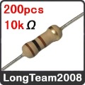 10k ohm 1/4W 5% Carbon Film Resistor 200pcs New Arrival Brand new and free shipping