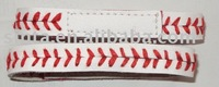 Customer logo baseball seam bracelet