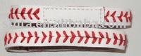 Customer logo baseball seam bracelet