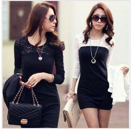 Black  White Striped Maxi Dress on Womens Dress Sweet Long Sleeve Slim Dress Maxi Dress Yd009 In Dresses