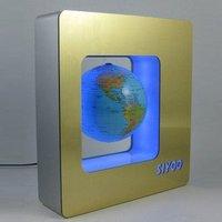 Wholesale Free Shipping World Globe - Floating World Map on Metal Base Surface
