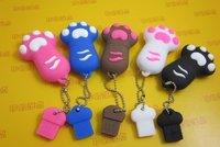 1pc free dropshipping Cute Footprints USB Flash dish Drives 2GB/4GB/8GB