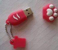 10pcs/lot freeshipping Cute Footprints USB Flash dish Drive