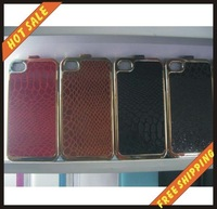 Free shipping --New high quality more colours leather case mobile phone cellphone for iPhone 4G