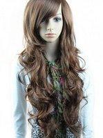New romantic light brown women's Pretty Stylish Long wavy wigs 10pcs/lot mix order