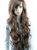 2011 new romantic long black women's curly wig Pretty Stylish Long straight and wave wigs 10pcs/lot mix order