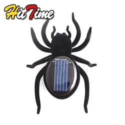 Educational Solar Powered Black Spider Toy Gadget Kids [3814|01|01](China (Mainland))
