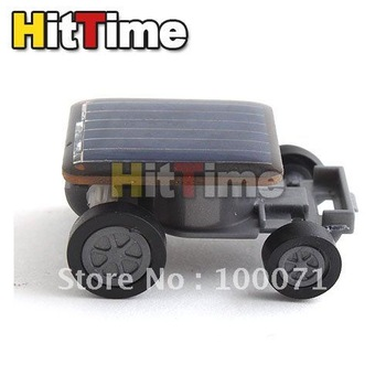 100pcs/lot Mini Solar Power Energy Car Racer Moving Toy   [3708|01|1H]