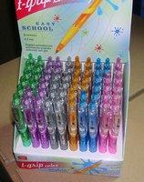 ball pens, school items, free shipping, retractable ball pens,bright colors