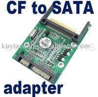 Free Shipping +New CF To SATA SSD Converter Adapter Card Bridge /CF TO SATA CONVERTER